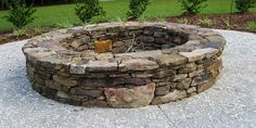 Fieldstone Fire pit - for roasting marshmallows on hot summer nights