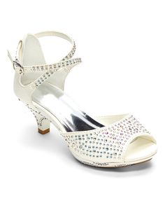 Look at this #zulilyfind! Ruby Shoes White Peep-Toe Sandal by Ruby Shoes #zulilyfinds