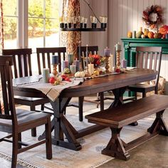 Rustic Brown Oval Wood Brooklynn Extension Dining Table - v4