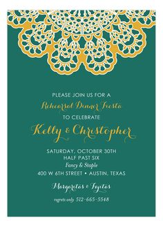 Vintage Lace Fiesta Invitation #Fiesta #Party