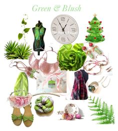 """""""Green & Blush"""" by anna-recycle ❤ liked on Polyvore featuring Swarovski, Prada, modern, rustic and vintage"""