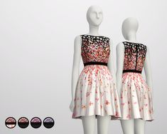Dopecherryblossomheart — rusty-sims: Black Cherry Blossom Dress by Red...