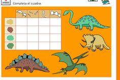 BICHITOS 5 AÑOS DE CASALS     Haz clic en la imagen y luego en la foto del dinosaurio          COMPLETA LOS NOMBRES       COMPLETA EL CUA...