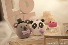 Panda and Koala cake topper