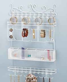 Make use of often wasted space to store your jewelry collection with