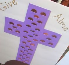 Idea for helping kids understand almsgiving during Lent. I like it. I wonder if this would work in Sunday school? Maybe make one big one for all the kids to add change to?