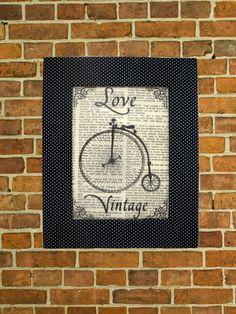 Quadro 26x21 - Love Vintage Bicicleta | LPeople Objetos Decorativos | 308A0B - Elo7