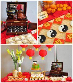 Chinese Inspired Kung Fu Panda themed birthday party Full of Really Cute Ideas via Kara's Party Ideas Kara's Party Ideas | Cake, decor, cupc...