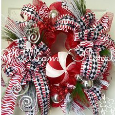 Hey, I found this really awesome Etsy listing at https://www.etsy.com/listing/209152783/whimsical-candy-cane-wreath-christmas