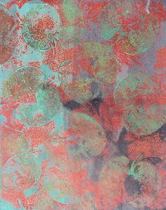 Hilary B - can talk: Trying out my gelli plate .. be warned .. lots of images
