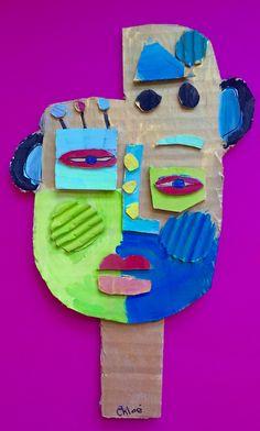 À la manière de Kimmy Cantrell  5ème année Cardboard Art, Process Art, Preschool Art, Art Plastique, Art Activities, Tree Branches, Creative Art, Sculpture Art, Art Projects