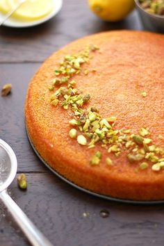 Super easy and quick recipe for delicious lemon semolina cake also known as Basbousa. Fully vegan, dairy free and eggless. Delicious!