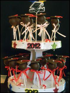 Graduation Cake pop Graduation Cake Pops, Graduation Party Desserts, Graduation Party Decor, Grad Parties, Graduation Ideas, Cake Pop Decorating, Cupcake Tutorial, Party Treats, Sweet Cakes