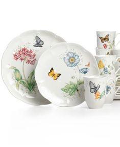 Lenox Dinnerware, Butterfly Meadow 18 Piece Set