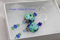 Got To Have It Sterling Silver  Lampwork EarringsOOAK by fa2756, $19.99