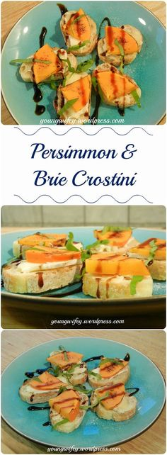 I love when persimmons begin to arrive at my grocery store in autumn. This underused fruit is perfect for autumn and winter snacking. Ingredients:  1 persimmon, 1 baguette, 1 wedge of brie, fresh b…