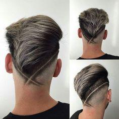V Fade Haircut with Hair Design