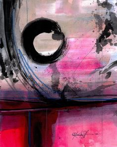 Items similar to Enso Abstraction Series . Original Zen Circle water media art ooak painting by Kathy Morton Stanion EBSQ on Etsy Modern Art, Contemporary Art, Art Abstrait, Pink Art, Zen, Painting Inspiration, Art Inspo, Medium Art, Love Art