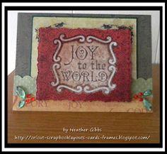 Cricut Inspired Handmade Cards: #58 Joy to the World Cricut Christmas Card