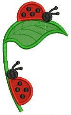 Simply Applique -All machine embroidery applique designs - lady bugs