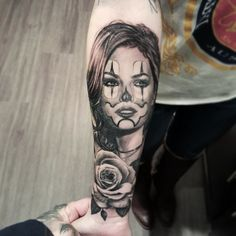 Second pass on my clown girl tattoo from @nathanhebert .  by littleinkedlady_