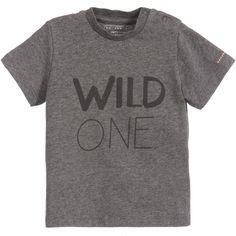Baby Boys Grey Organic Cotton T-Shirt, Belly Button, Boy