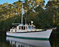 1982 Joel White/Brooklin Boat Yard Downeast Trawler Power Boat For Sale -