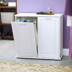 Laundry Hamper Cabinet In White Color is part of Clothes cabinet Hampers - Keeping a healthy family should be everyone's goal The laundry department is a good way to start; especially by using laundry hampers Laundry Hamper Cabinet, Laundry Sorter Hamper, Clothes Cabinet, Laundry Room Cabinets, Laundry Room Storage, Closet Storage, Laundry Rooms, Hampers, Laundry Baskets