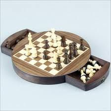 Indian Wooden Chess set - want one of those for my son - he loves chess