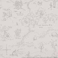 One Hundred Acre ™ Wallpaper - Cowtan Design Library