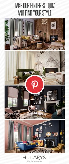 Are you more of a Minimal Luxe or Modern Rustic? Does your style suit rooms with a loud Colour Clash scheme or edgy Urban Glamour vibes? Take our Pinterest quiz to find out! #IWANTTHATSTYLE