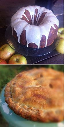 apple cakes with maple glaze, apple pies, apple muffins, apple croissants, apple cider -- and everything else