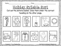 """This freebie is part of my """"Ho, Ho, Ho: It's Holiday Time! Christmas Literacy Unit"""". You can find the whole product here: http://www.teacherspayteachers.com/Product/Ho-Ho-Ho-Its-Holiday-Time-A-Christmas-Literacy-Activity-Unit"""