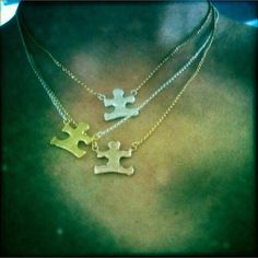 Reverie by Corinne is hand crafted jewelry out of Santa Monica. 10% of this special line of sterling silver, 14k gold and rose gold vermeil puzzle piece necklaces goes to Autism Speaks. http://www.etsy.com/listing/100007147/autism-awareness-necklace-silver?ref=shop_home_active_search_query=autism_search_type=user_shop_ttt_id_5275044