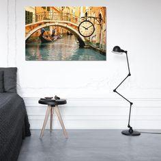 Venedik Canvas Wall Clock / Kanvas Duvar Saati http://www.tictactasarim.com/K15,modern-tablo-saatler.htm