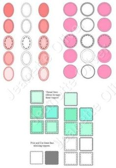 Special Offer 9 Sets of Square Oval Round Toppers on Craftsuprint - Add To Basket!