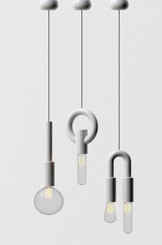 I-O-N Pendant Lights by Gregory Bonasera and Anthony Raymond of Porcelain Bear via thedesignfiles.net
