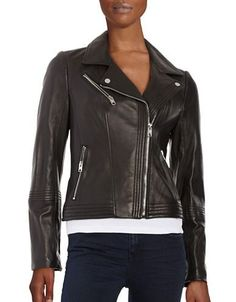 64fadaa1672920 MICHAEL Michael Kors - Leather Moto Jacket