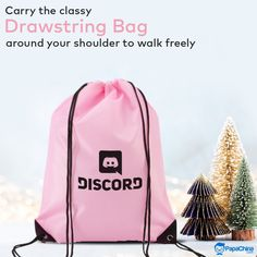 Carry the classy drawstring bag around your shoulder to walk freely. #bags #drawstringbags #backpack #backpacks #wholesale #promotion #Marketing #advertisement #Trending #giveaway #gift #giftguide #branding Custom Drawstring Bags, Drawstring Backpack, Promotion Marketing, Promotional Bags, Picnic Bag, Wholesale Bags, Luggage Bags, Giveaway, Classy