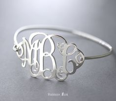This Personalized monogram Bracelet is made of sterling silver. You can wear this Bracelet with any everyday outfit, or give as a gift.  Product