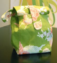 Fabric lunch sack pattern and tutorial