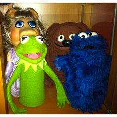 Sesame Street vintage puppets