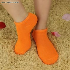 1 Pair Women Socks Candy Color Fashion Ankle Boat Short Sock Cotton 10 Colors Can be Selected