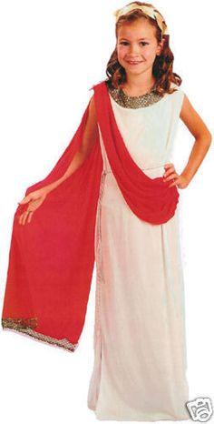 GIRLS CHILDS GREEK GODDESS ROMAN TOGA FANCY DRESS EGYPTIAN COSTUME BOOK DAY AGE | eBay