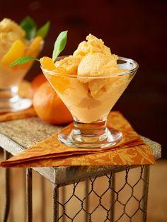Mousse helado de mandarina