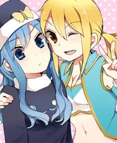 Fairy Tail Juvia Lockser and Lucy Heartfilla you mean her love rival loool