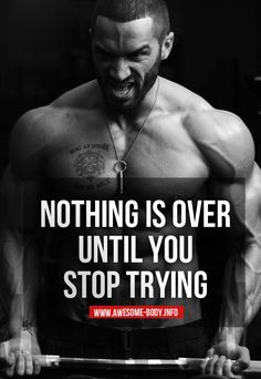 Picture Quotes - - Never stop trying | Lazar Angelov Quotes - Bodybuilding News & Tips - Health & Nutrition - Motivation - Wallpapers - Pictures
