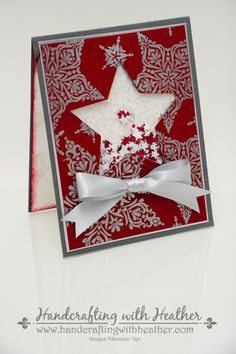 Heather VanLooy: Handcrafting with Heather - 2014 Holiday Catalog Blog Hop - Stampin' Up! - 8/28/14 (SU: Bright & Beautiful stamps; Stars framelits)