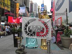 Llegan a Nueva York la palabra y la bandera del Concejo Indígena de Gobierno #CIG #CNI