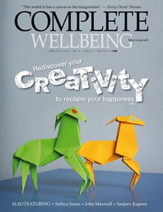 This month, Carrie and Alton are featured in the cover story of Complete Wellbeing, in which they suggest ways to be creative in your everyday life, using your hands, your body, your mind and your heart. Find the issue here: http://completewellbeing.com/article/may-2013-issue-the-pursuit-of-creativity/